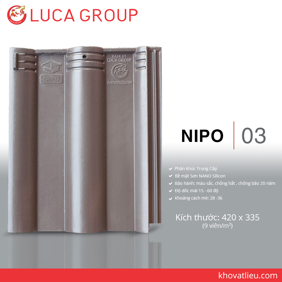 Lucagroup Smart Roof Tiles NIPO / 03