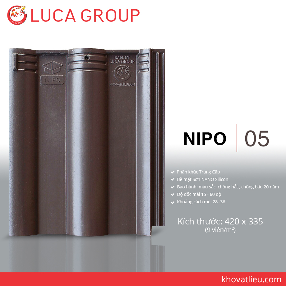 Lucagroup Smart Roof Tiles NIPO / 05