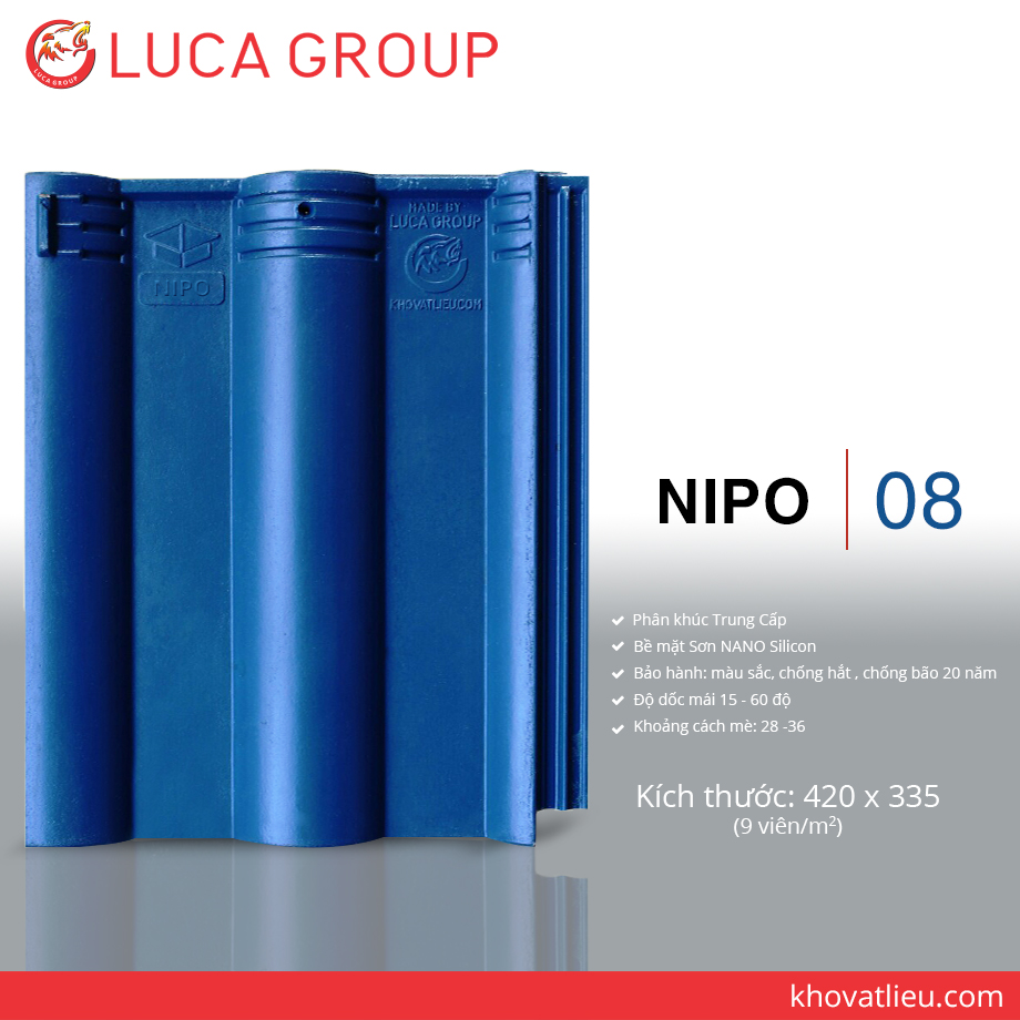 Lucagroup Smart Roof Tiles NIPO / 08