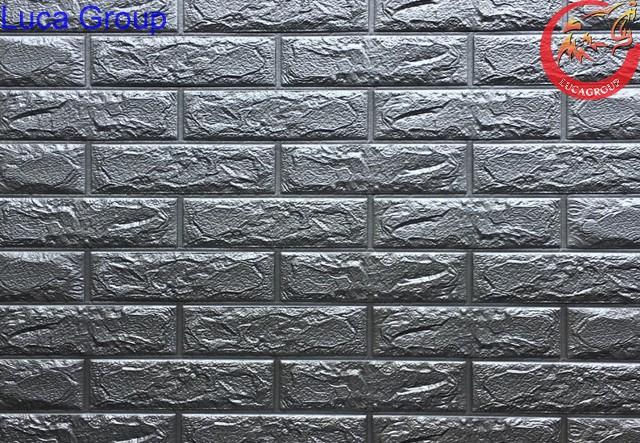 Xốp Dán Tường Giả Gạch Màu Ghi Mã 08
