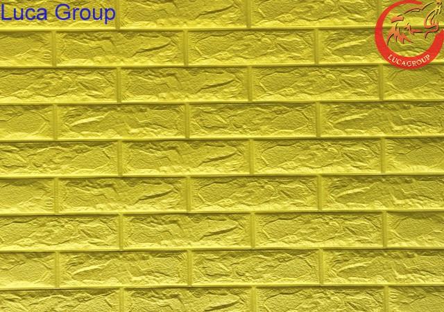 Xốp Dán Tường Giả Gạch Màu Vàng Mã 03